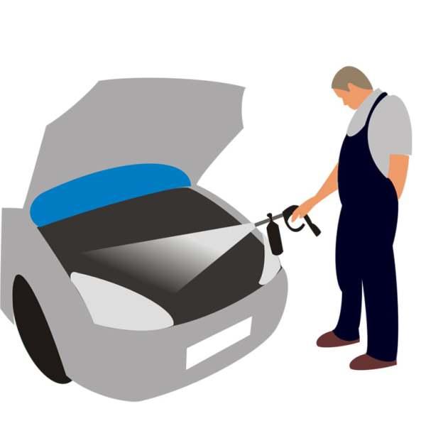 Промывка деталей и частей автомашин